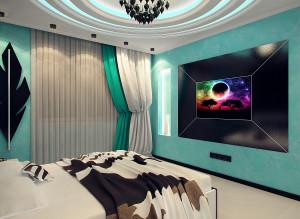 Интерьер тв зоны в спальне фото