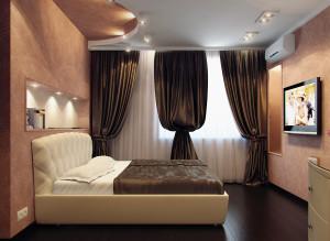 Дизайн спальни в четырехкомнатной квартире