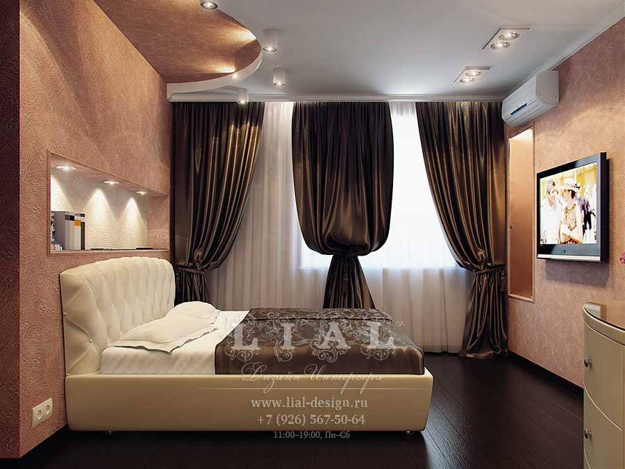 Дизайн спальни 9.5 кв.м фото