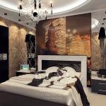 Интерьер интерьера спальни