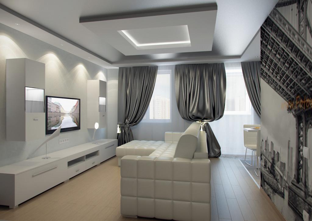 Дизайн ТВ-зоны в гостиной. Фото
