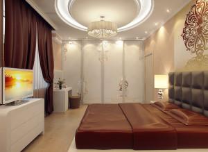 интерьер тв зоны в спальне