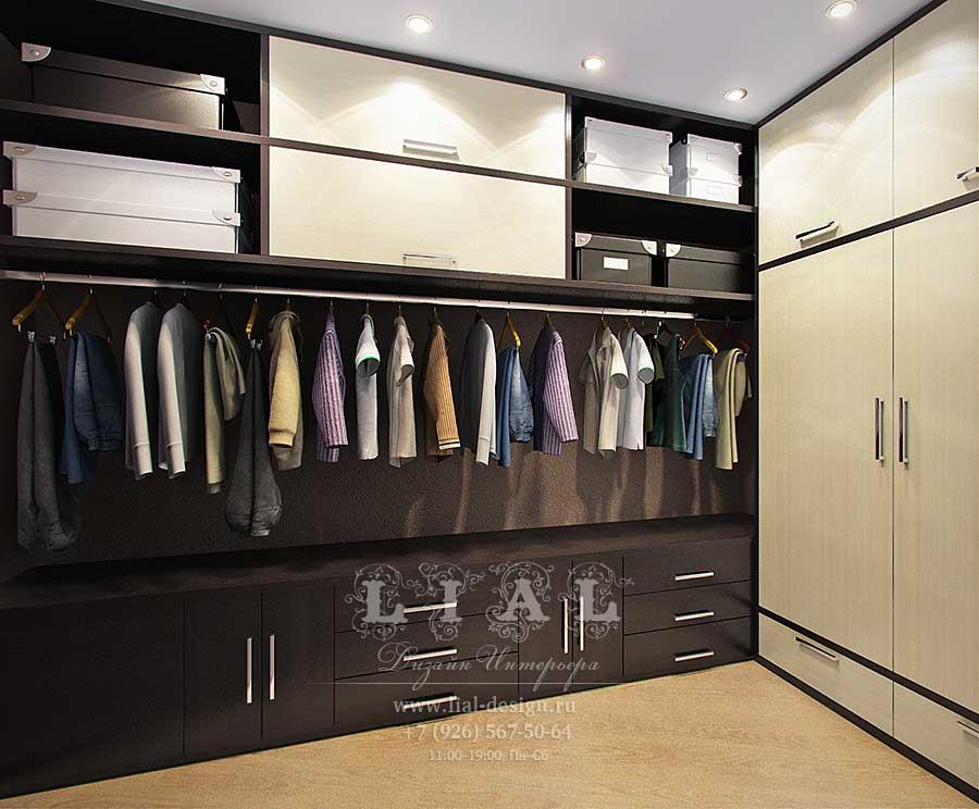 интерьер гардеробной комнаты фото