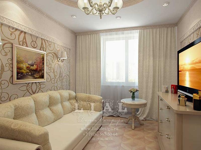 Дизайн зала или гостиной в квартире в