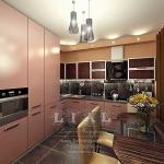 Дизайн стильной кухни фото