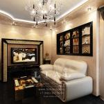 Интерьер кабинета в квартире в современном стиле