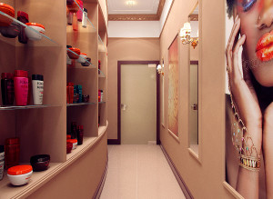 дизайн коридора в салоне красоты