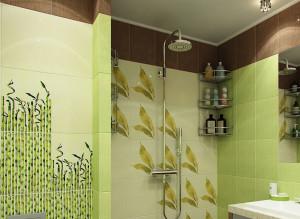 Фото современной ванной комнаты в салатовом цвете