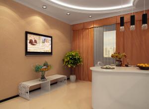 Дизайн кухни ТВ-зона