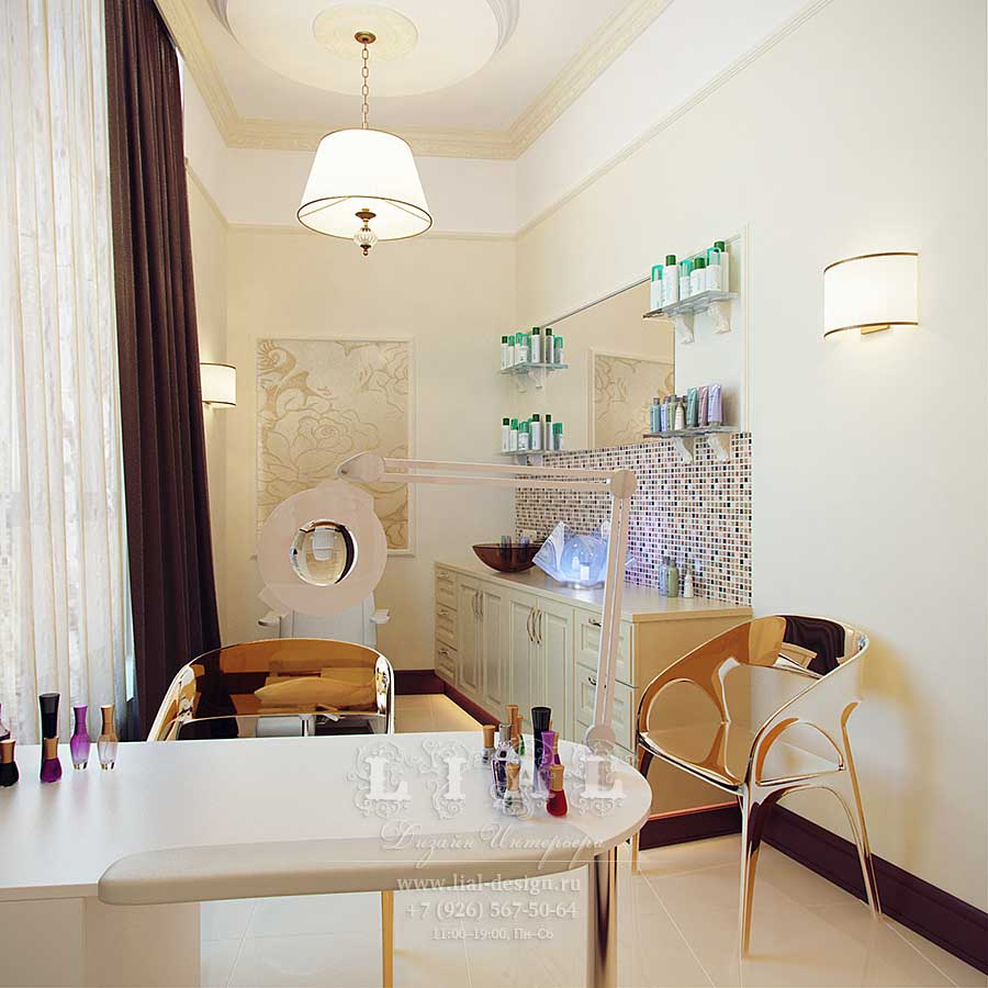 Дизайн интерьера маленького салона красоты