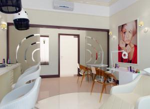 стильный дизайн салона красоты
