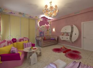 Современный дизайн детской комнаты для девочки фото 2016