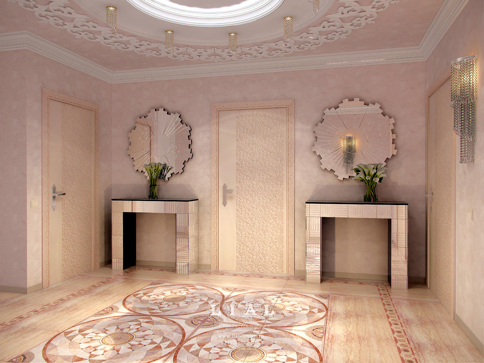 Дизайн холл в частном доме