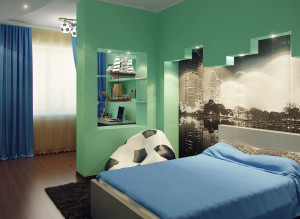 Дизайн стильной детской комнаты для мальчика