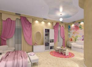 Идеи дизайна детской комнаты для девочки фото