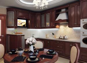 Дизайн интерьера кухни-столовой в квартире