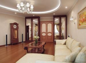 Дизайн гостиной в четырехкомнатной квартире