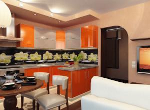 Дизайн гостиной-кухни фото 2016