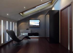 Дизайн ТВ-зоны в спальне