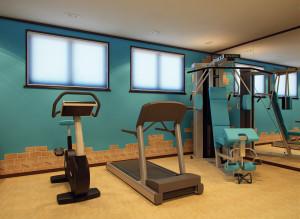 Дизайн спортзала в квартире