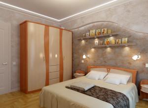 Дизайн стильной спальни в квартире