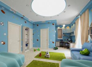 Дизайн интерьера детской комнаты для мальчика фото