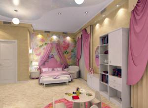 Современные идеи дизайна детской комнаты для девочки фото