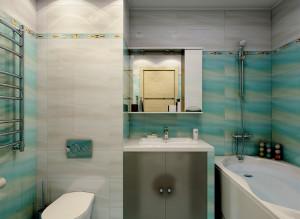 Современные идеи дизайна ванной комнаты со стиральной машиной в бирюзовом цвете фото