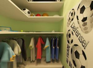 Дизайн гардеробной для мальцика