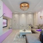 Идеи дизайна гостиной в лиловом цвете фото 2016 современные идеи