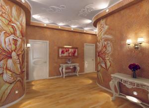 Дизайн холла в коричневом цвете