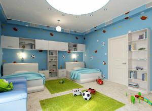 Дизайн светлой детской комнаты для мальчика