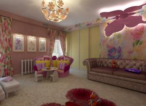 Дизайн интерьера детской комнаты для девочки фото 2016