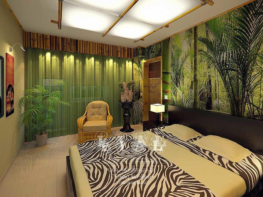 Дизайн интерьера спальни в экостиле