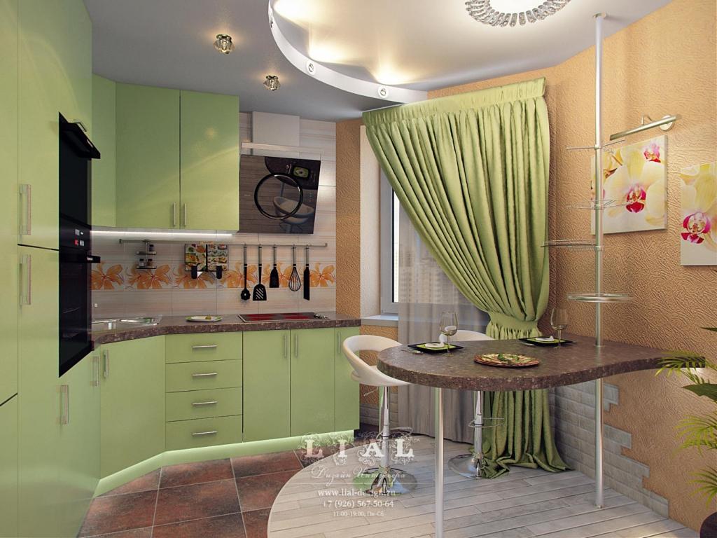 Дизайн кухни с зелеными оттенками: фото 2016