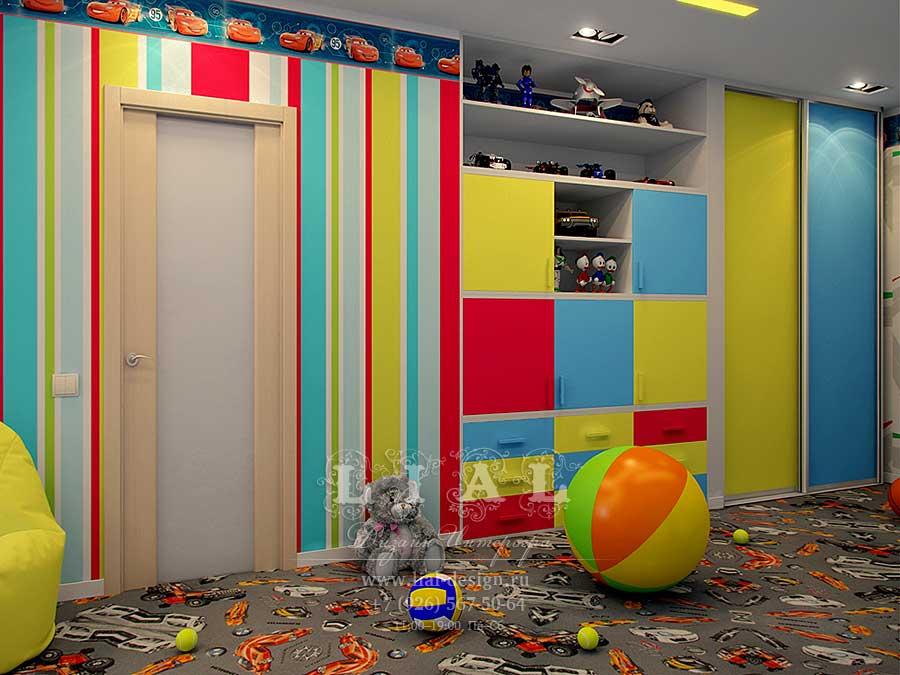 Дизайн яркой детской комнаты: фото 2016