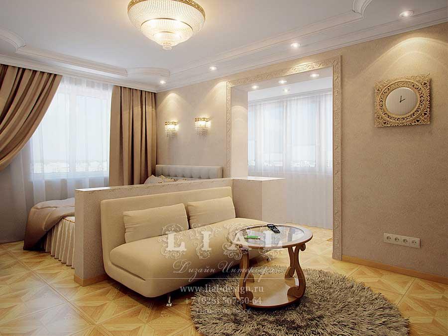 Дизайн однокомнатной квартиры: фото 2016