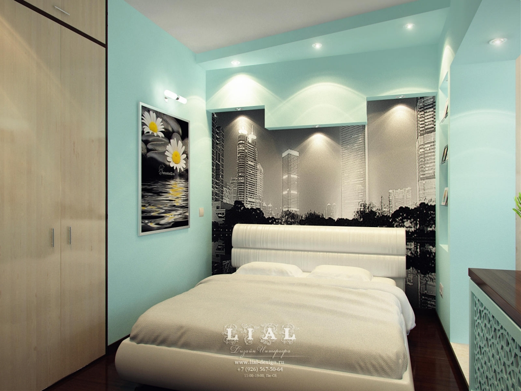 Дизайн бирюзовой спальни: фото 2016