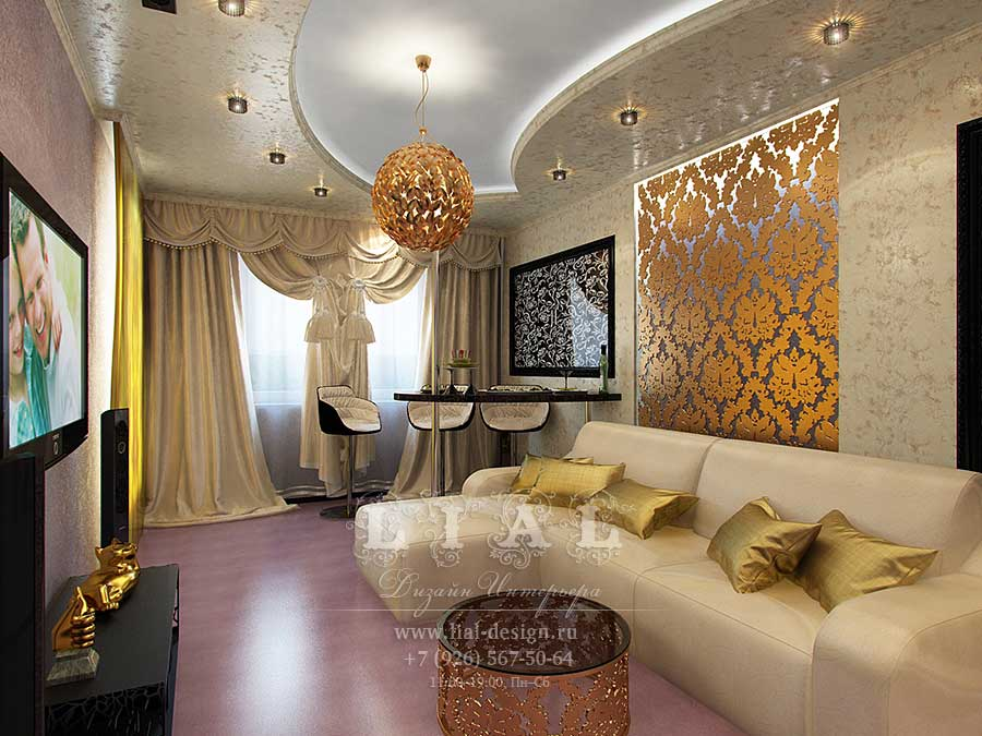 Дизайн гостиной с угловым диваном: фото 2016