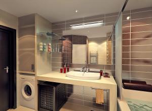 Дизайн стильной ванной комнаты со стиральной машиной фото