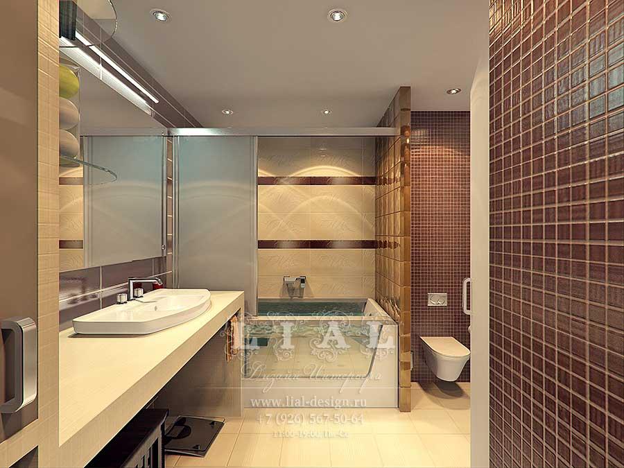 Идеи дизайна ванной комнаты совмещенной с санузлом фото