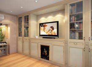 Интерьер ТВ-зоны в гостиной