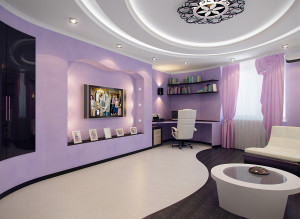 Идеи дизайна гостиной фото в лиловом цвете
