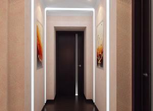 Интерьер коридора в светлых тонах