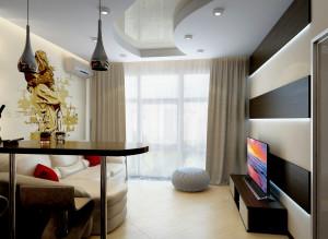 Дизайн ТВ-зоны в гостиной