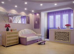 Дизайн гостиной в типовой двухкомнатной квартире 50 кв. м