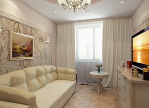 Идеи интерьера гостиной в светлых тонах