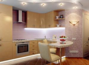 Дизайн интерьера кухни совмещенной с гостиной