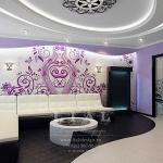 Дизайн стильной гостиной фото в лиловом цвете