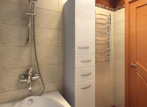 интерьер ванной комнаты в светлых тонах фото
